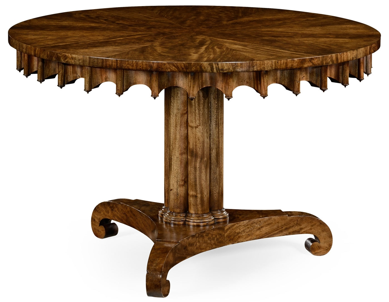 stylish mahogany round dining or foyer center table