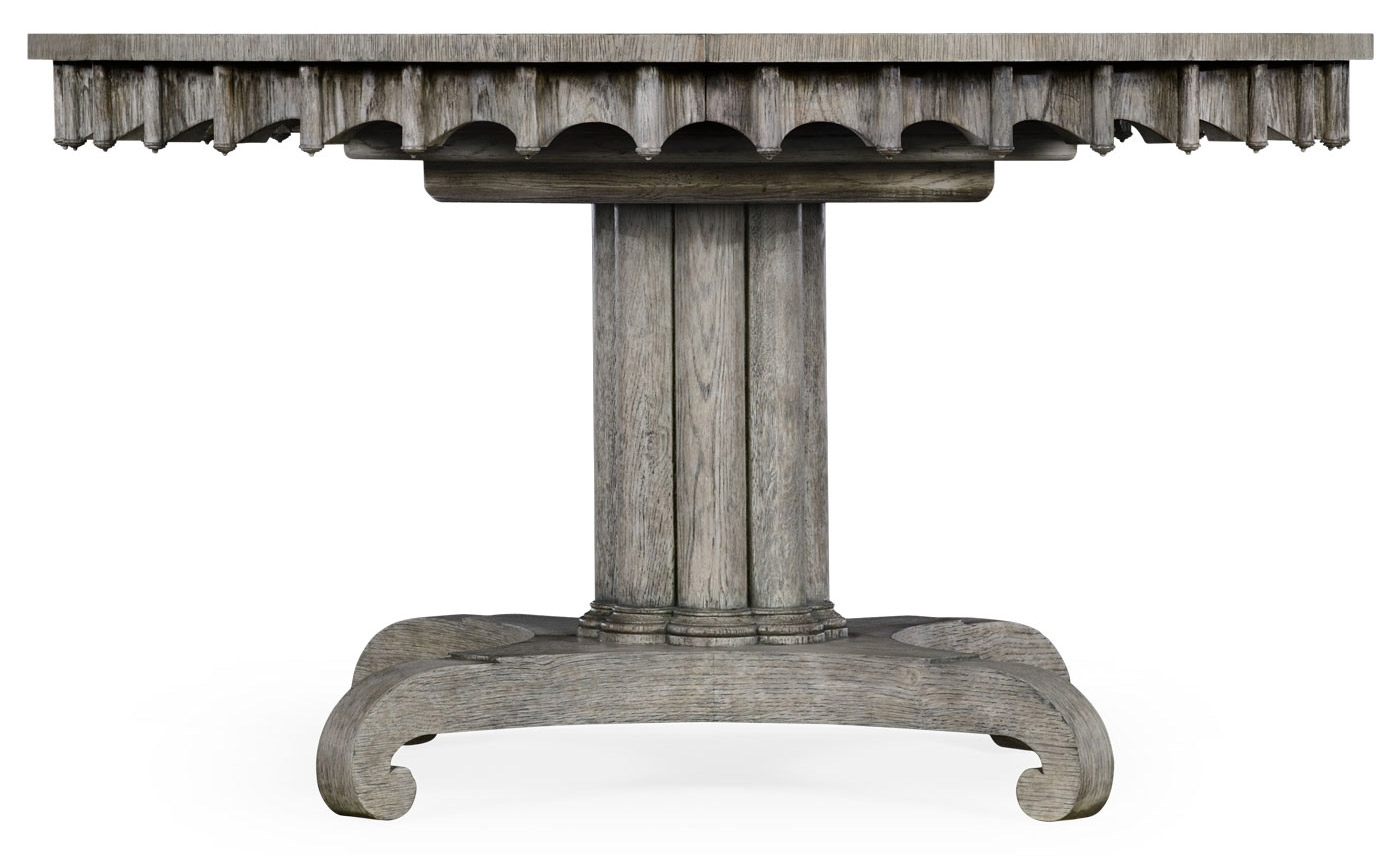 Dining Tables Round To Oval Dining Table, Gray Driftwood Color Oak