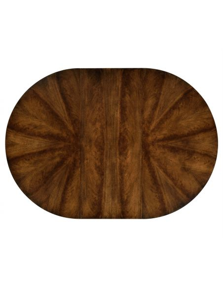 Dining Tables Round to oval dining table, Mahogany