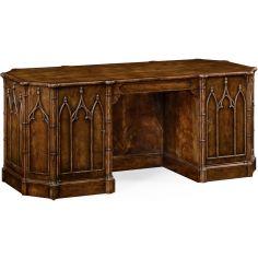 Gothic arch paneled desk