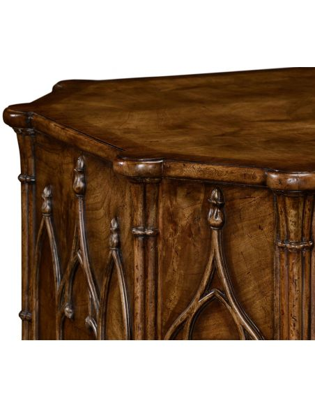 Executive Desks Gothic arch paneled desk
