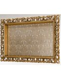 Gold Moldings Bordered TV Frame