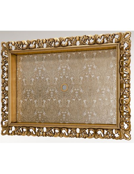Decorative Accessories Gold Moldings Bordered TV Frame