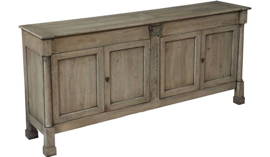 Breakfronts & China Cabinets Walnut Cabinet with Driftwood Finish