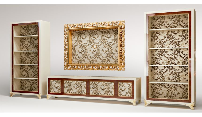 Mirrors, Screens, Decrative Pannels Floral Themed TV Composition Unit