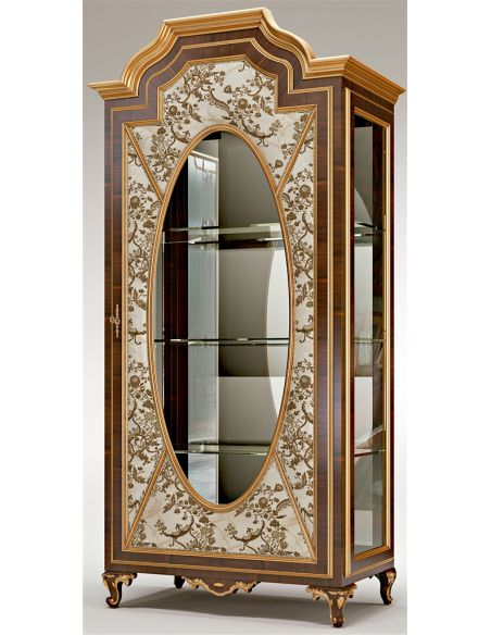 Furniture Masterpieces Mirror Paneled Display Cabinet