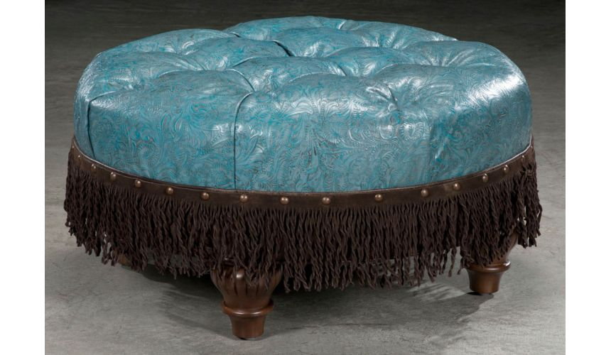 Luxury Leather & Upholstered Furniture American Leather Ottoman-23