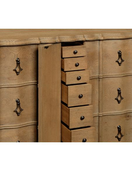 Breakfronts & China Cabinets Distressed 16 drawer dresser