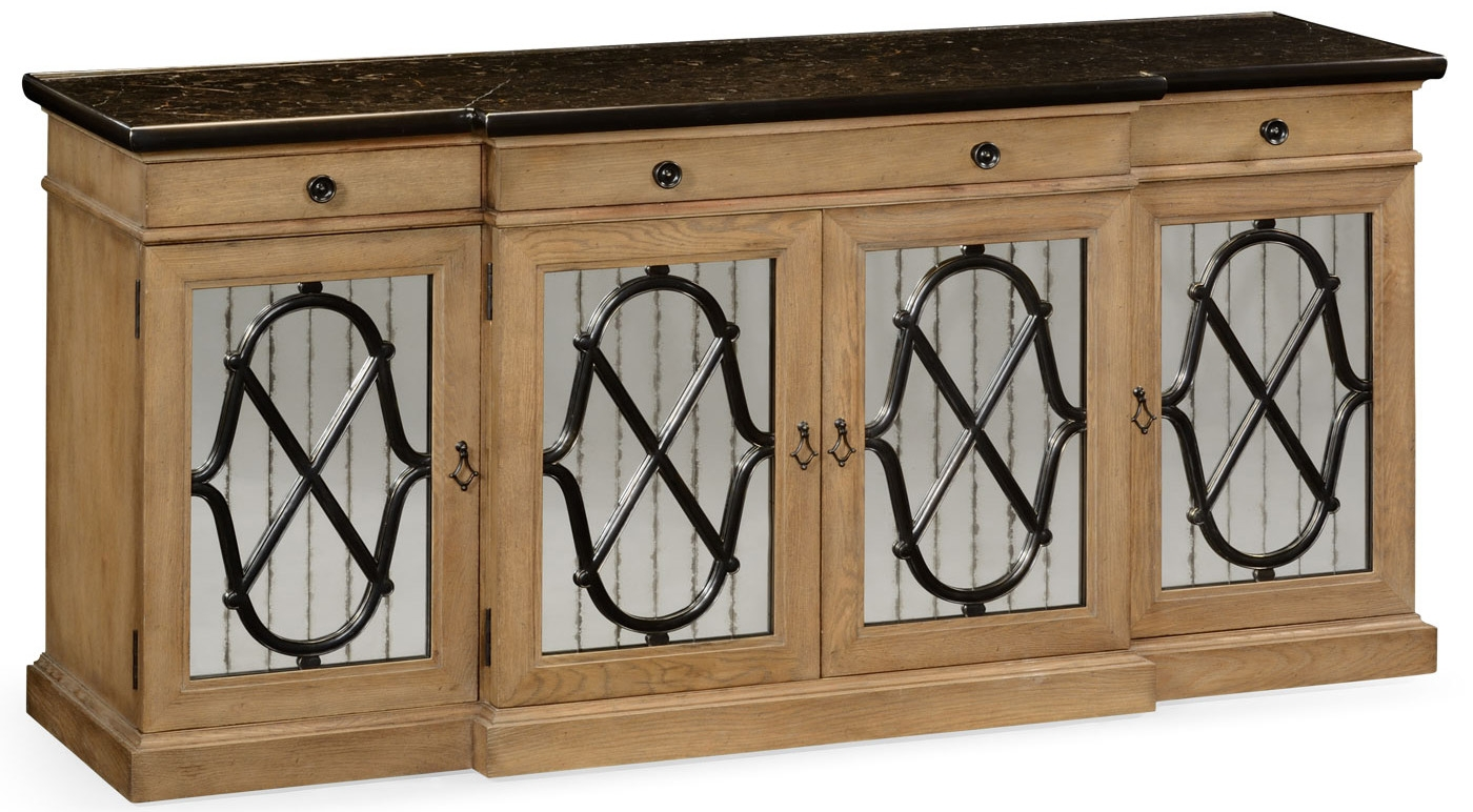 Beau Breakfronts U0026 China Cabinets Light Wood Marble Top Sideboard