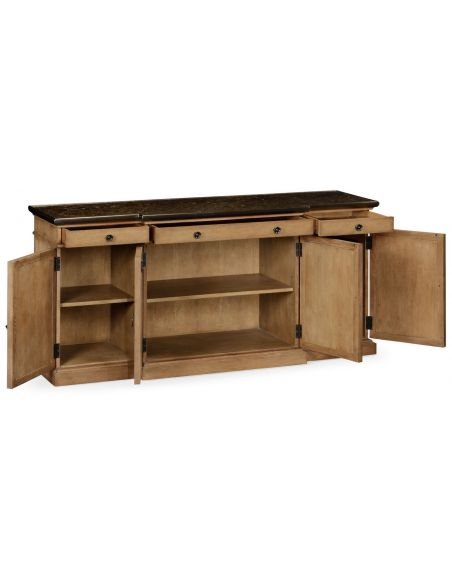Breakfronts & China Cabinets Light wood marble top sideboard