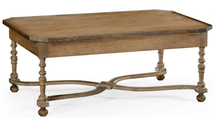 Coffee Tables Distressed country cocktail table