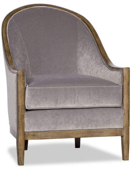 Luxury Leather & Upholstered Furniture Transitional Style Dove Finish Chair