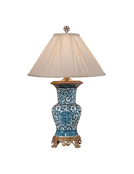 Decorative Accessories Hand Painted Aqua Lamp