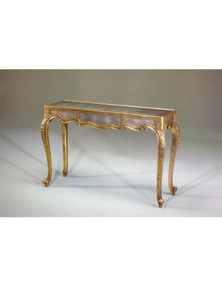 Console & Sofa Tables luxury furniture Louis XV verre eglomise