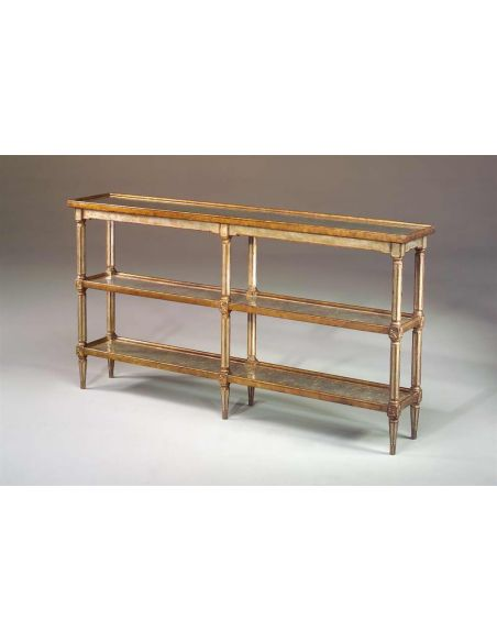Console & Sofa Tables Venetian giltwood & verre eglomise silvered console table