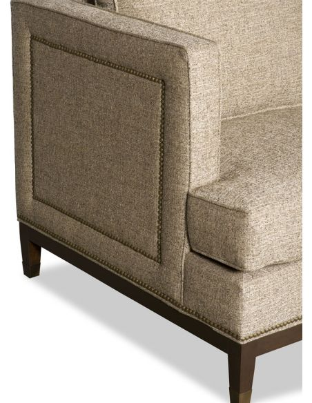 SOFA, COUCH & LOVESEAT Buckskin Finish High-Armrest Sofa