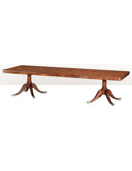 Dining Tables Mahogany Twin Pedestal Extending Dining Table