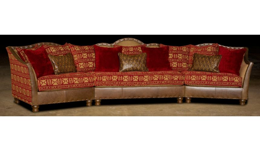Luxury Leather & Upholstered Furniture Leather & Upholstered Luxurious Sofa-68