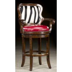 Zebra hide bar stool. 65