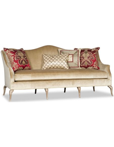 SOFA, COUCH & LOVESEAT Traditional Camel Back Sofa