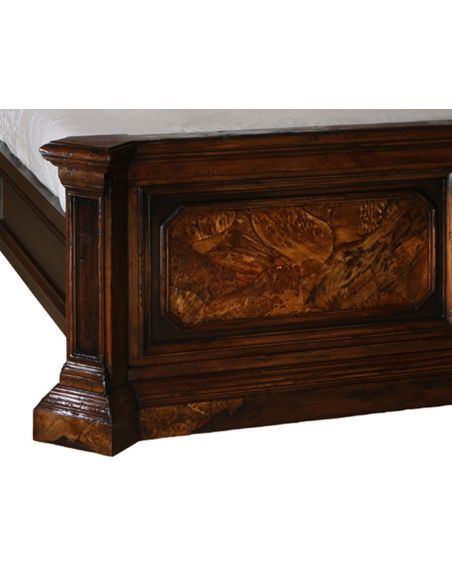 Queen and King Sized Beds Burl wood bedroom furniture 46