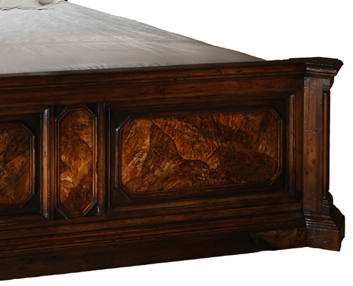 BEDS   Queen, King U0026 California King Sizes Burl Wood Bedroom Furniture 46