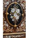Breakfronts & China Cabinets 11 Venetian style display case. Mother of pearl flower inlays.