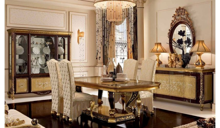 Dining Tables Spectacular dining tabl with mother of pearl inlay and exquisite marquetry work.