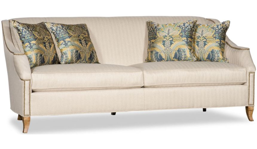 SOFA, COUCH & LOVESEAT Nail Head Upholstered Sofa
