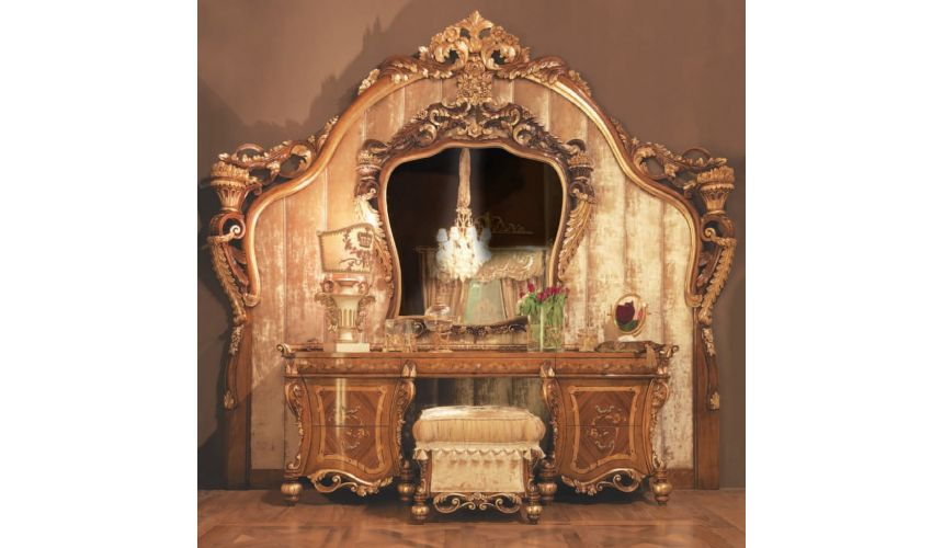 Furniture Masterpieces Impressive Empire style Dressing Table Antiqued Design
