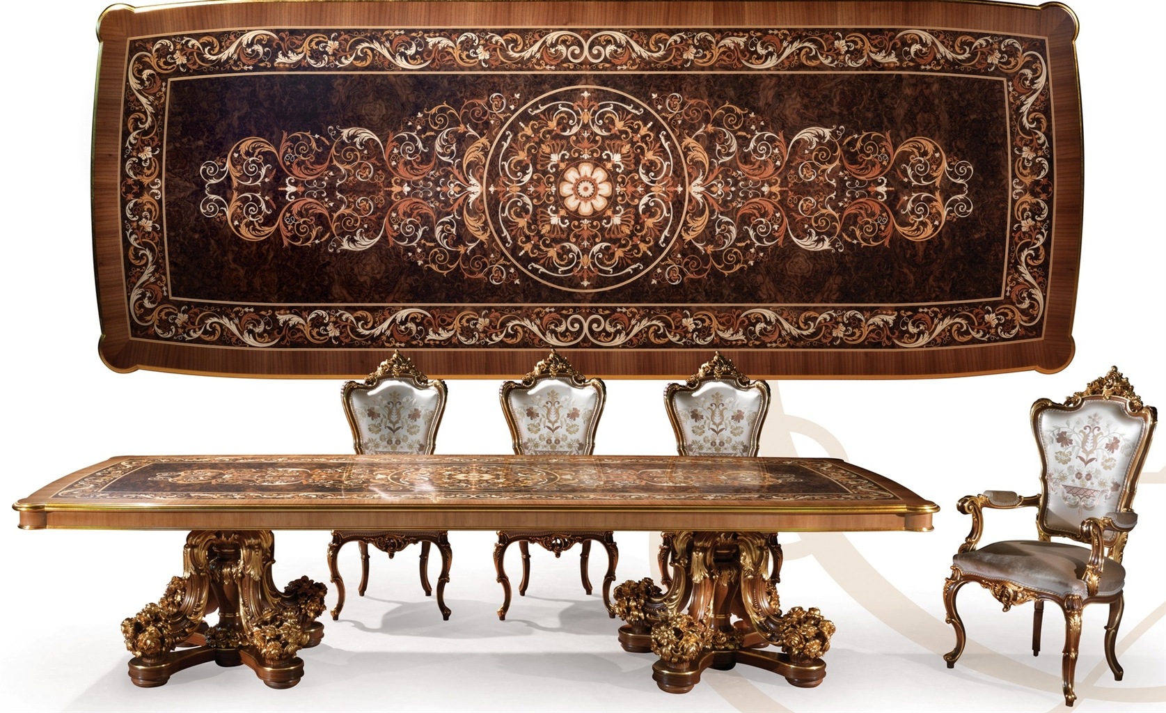 Luxury dining furniture with exceptional detailing and for Luxury dining table