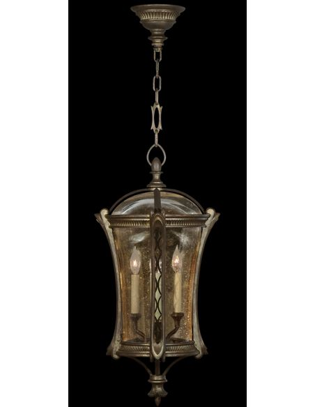 Lighting Lantern in an aged antique gold finish