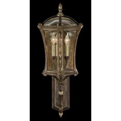 Wall mount in an aged antique gold finish