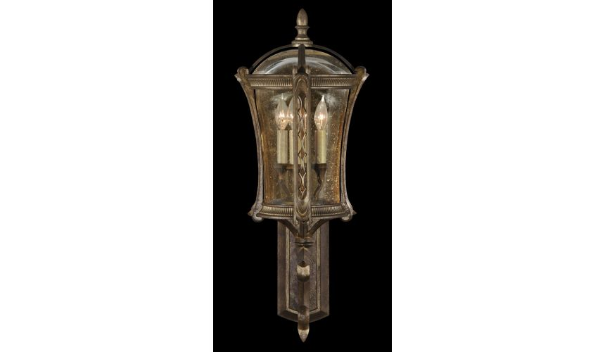 Lighting Wall mount in an aged antique gold finish