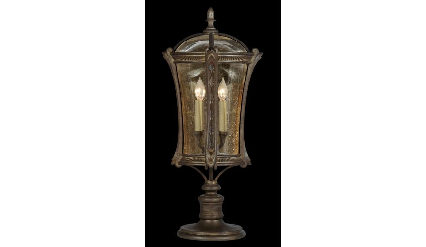 Lighting Pier mount in an aged antique gold finish