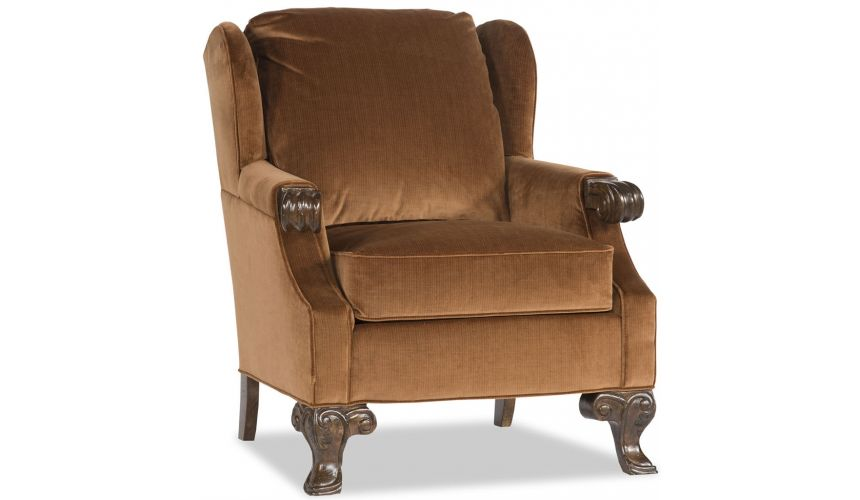 Luxury Leather & Upholstered Furniture Smooth Like Chocolate Chair