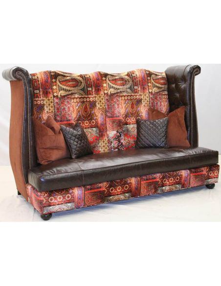 SOFA, COUCH & LOVESEAT Gothic tapestry sofa, unique high style furniture