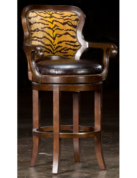 Luxury Leather & Upholstered Furniture Tiger bar stool. 69
