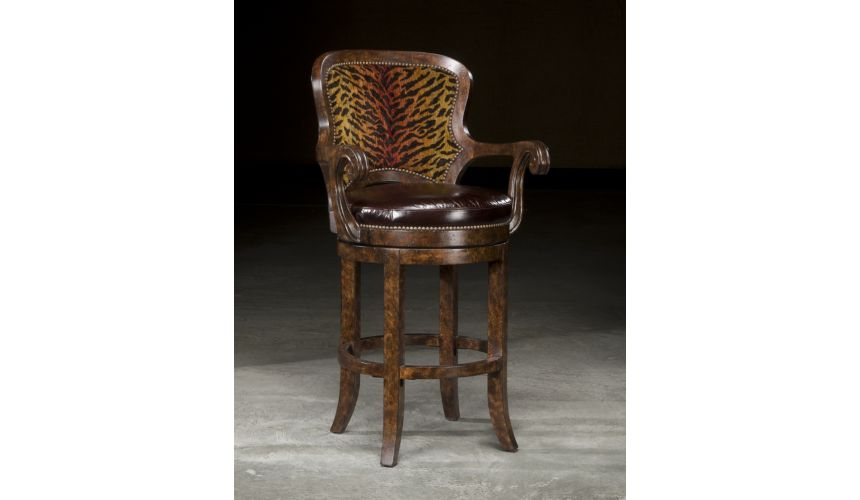 BAR AND COUNTER STOOLS High End Furniture, Tiger Bar stool