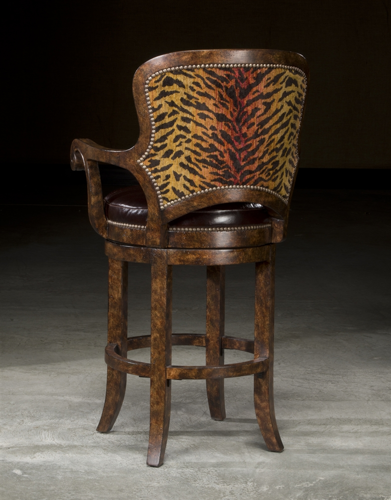 High End Furniture Tiger Bar Stool