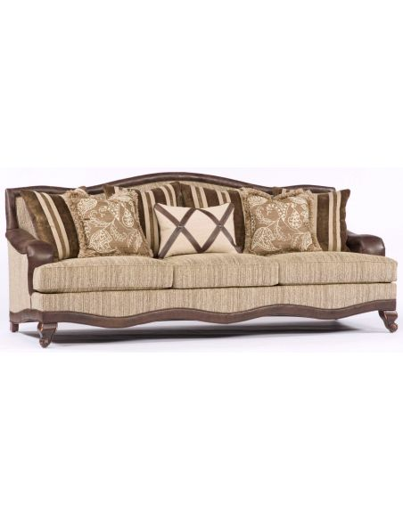 SOFA, COUCH & LOVESEAT Brown and Tan Pattern Sofa