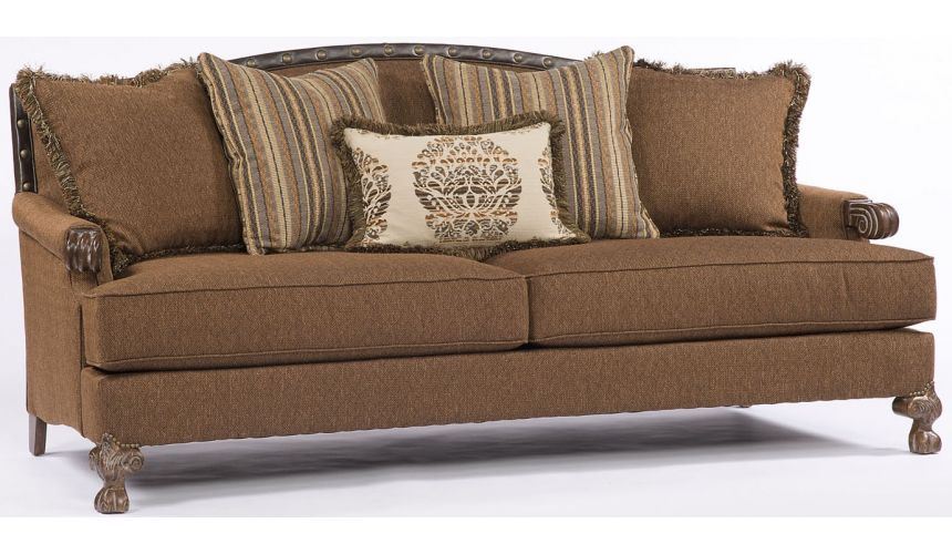 SOFA, COUCH & LOVESEAT Chocolate Colored Sofa