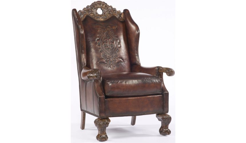 Western Furniture Gothic Leather Chair