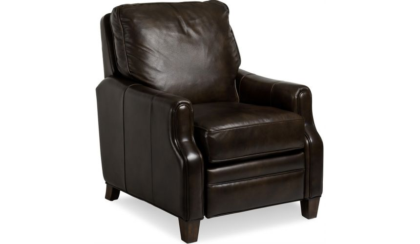 CHAIRS, Leather, Upholstered, Accent Leather Riverside Lounger
