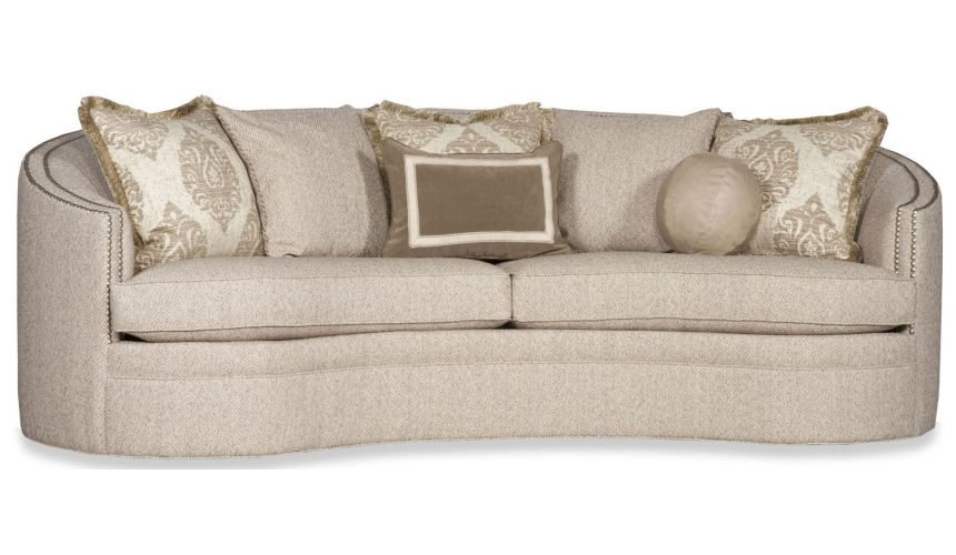 SOFA, COUCH & LOVESEAT Contemporary Curved Nail Head Sofa
