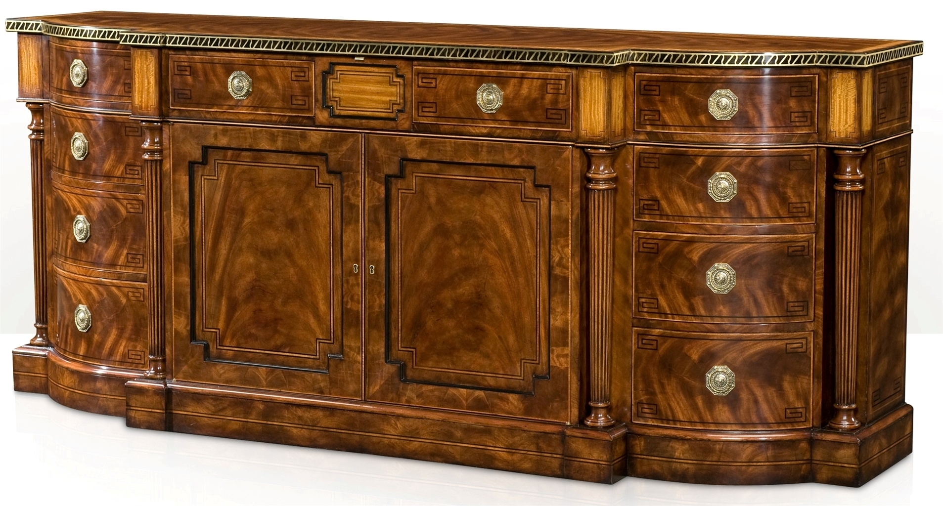 English cabinet maker dining room breakfront for Cabinet makers