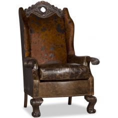 Heavily Carved Arm Chair
