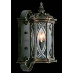 Small wall mount of individually beveled, leaded glass panels