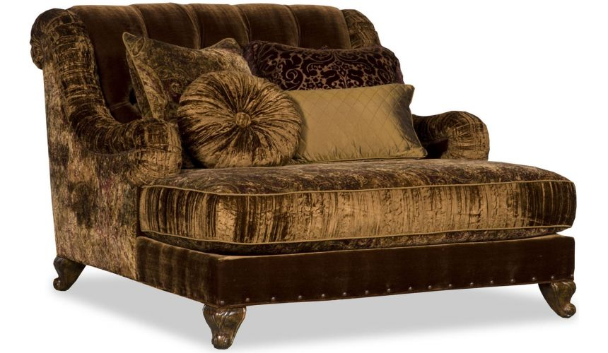 Luxury Leather & Upholstered Furniture Upholstered Extended Sofa