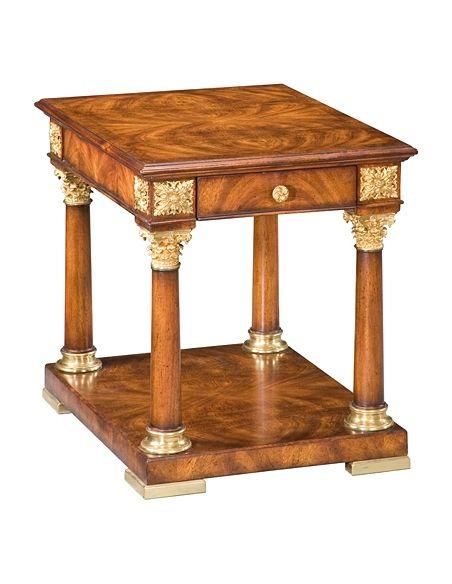 Square & Rectangular Side Tables 72-87 Reddish walnut finish